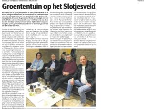 Voedseltuin Oosterhout Artikel weekblad Oosterhout 8-1-20