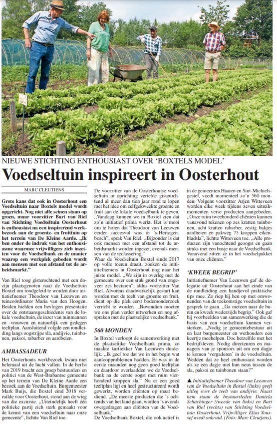 Voedseltuin Oosterhout op bezoek in Boxtel